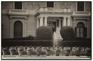 807 Barcelona Palacio Pedralbes lago y palacio