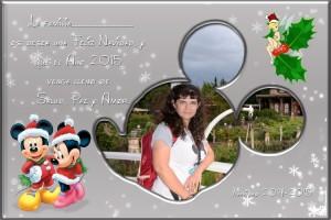 01 Postal Navidad silueta Mickey ejemplo