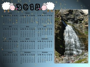 02 Calendario 2015 Ordesa Cola de Caballo 75x100