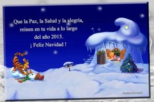 03 Postal Navidad Pooh y amigos con marco