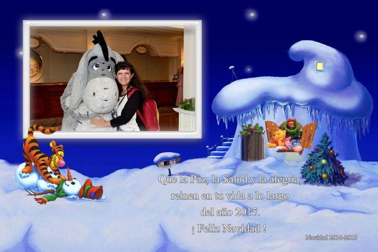 postal navidad pooh y amigos con foto ejemplo