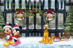 06 Postal Navidad Mickey Minnie Pluto