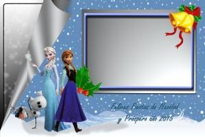 08 Postal Navidad Princesas Frozen