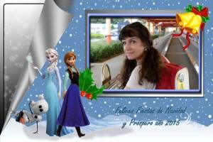 09 Postal Navidad Princesas Frozen ejemplo