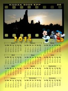 11 Calendario 2015 Disneyland anochecer
