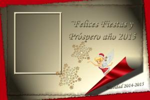 13 Postal Navidad Campanilla con foto