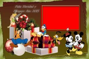 16 Postal Navidad Personajes varios con foto