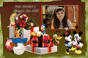 17 Postal Navidad Personajes varios con foto ejemplo