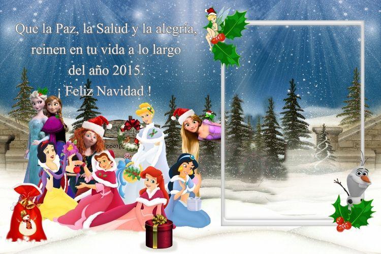 Postales Navidad Disney Personalizadas Gratuitas Ma Jesus - Postales-para-navidad-personalizadas