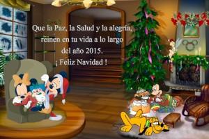 20 Postal Navidad Mickey y familia