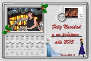 215 Postal Navidad Carta postal Disney 14-15 ejemplo con foto