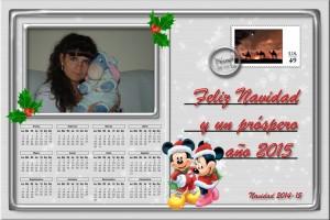 217 Postal Navidad Carta postal Disney 14-15 ejemplo con foto