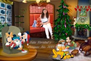 22 Postal Navidad Mickey y familia con foto ejemplo