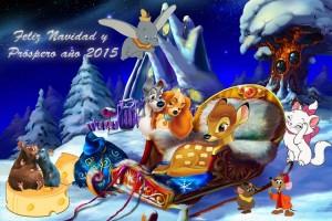 23 Postal Navidad Animalitos Disney