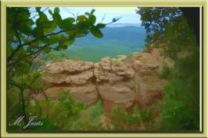 25 Montcau Roca Cavalcada detalle entre árboles