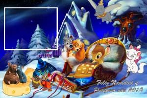25 Postal Navidad Animalitos Disney con foto