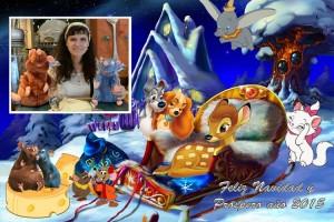 26 Postal Navidad Animalitos Disney con foto ejemplo