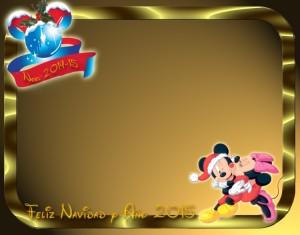 31 Postal Navidad Mickey Minnie beso