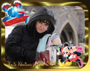 32 Postal Navidad Mickey Minnie beso ejemplo