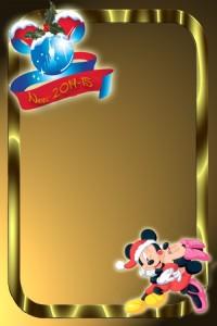 33 Postal Navidad Mickey Minnie
