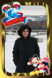 34 Postal Navidad Mickey Minnie ejemplo