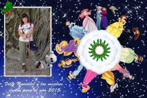 37 Postal Navidad Pequeño mundo Disney con foto ejemplo