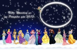 38 Postal Disney mundo nevado Princesas
