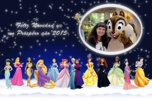 39 Postal Disney mundo nevado Princesas ejemplo