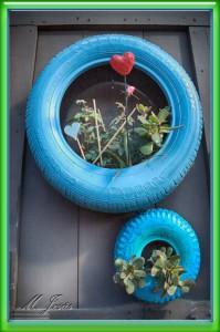 35 Mercantic - flores en neumáticos